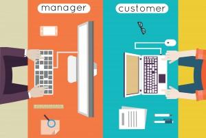 Vector illustration of customer relationship management. Business and development